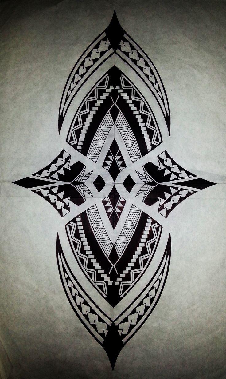 Traditional Polynesian Designs | Polynesian Sharks Mouth by Cameron-Rutten