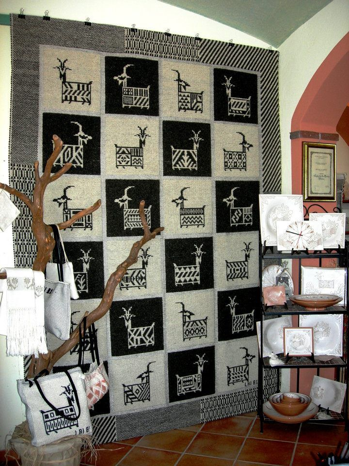 Sardinian Textiles in Ulassai Ogliastra, Carpet, Rug, Sardinia, Sardegna, Tappeto.