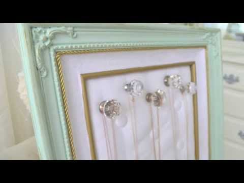 She Attaches Glass Knobs To Fabric Covered Peg Board. What She Does Next Is Super Cool! - DIY Joy