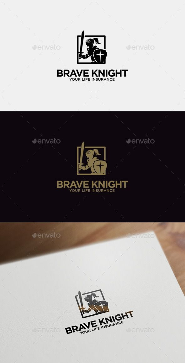 Brave Knight Logo Template — Vector EPS #character logo #mortgage • Available here → https://graphicriver.net/item/brave-knight-logo-template/9016236?ref=pxcr