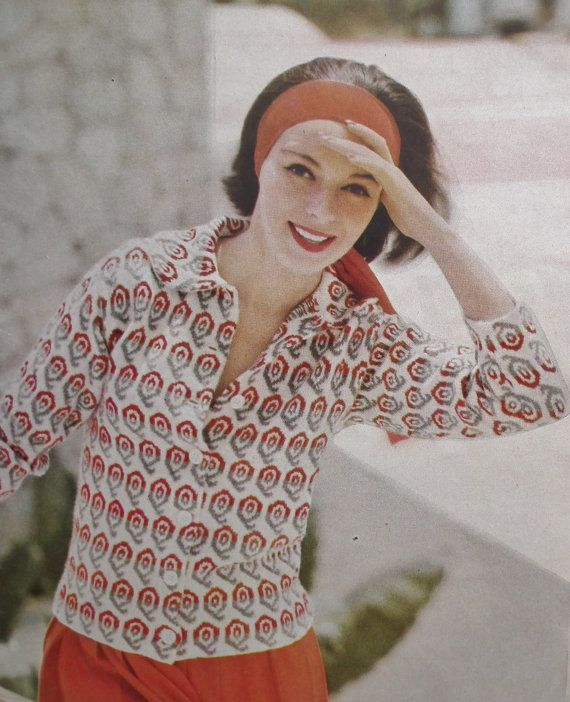 Vogue Knitting Book No 53 vintage 1950s knitting patterns - women's jumpers sweaters jackets dresses - 50s original patterns UK edition