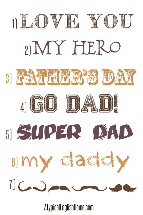 A Typical English Home: My 7 Favourite Father's Day Fonts   ~~    [7 Free fonts w/ links]