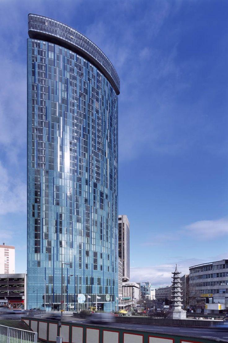 The Radisson Blu Birmingham Hotel. 39 Storey glass ...