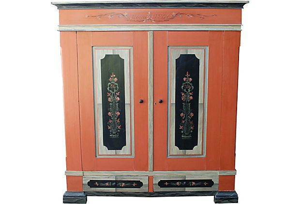 Danish painted armoire c 1860 danishes products and for Armoire new york city