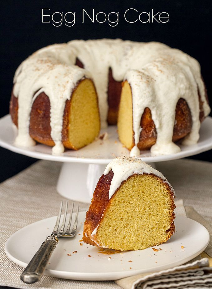 Eggnog Bundt Cake Recipe. Super moist with the wonderful taste of eggnog, this cake does not disappoint. Perfect for the holidays or a sunday dinner.