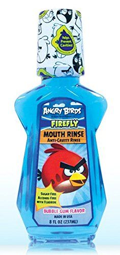 #Firefly Angry Birds Mouth Rinse Bubble Gum Flavor (4 bottles)(anti cavity rinse)