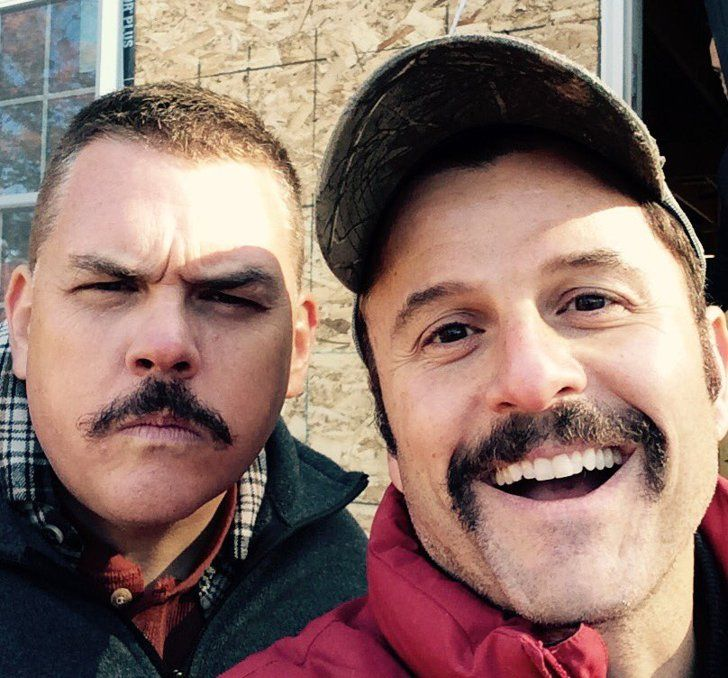 Pin for Later: Super Troopers 2 Has Begun Filming! See the Goofy Pictures  Heffernan and Steve Lemme (aka Mac) mugged for the camera.