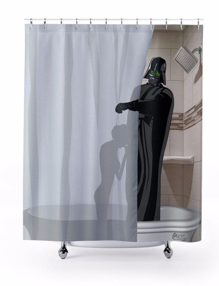 """The Dark Side Wins"" Shower Curtain"