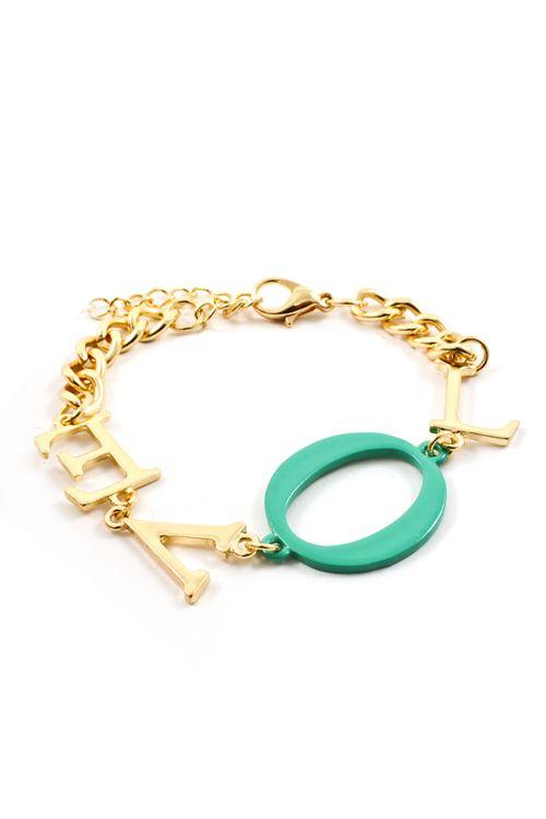 {Love Bracelet in Mint Teal} Emma Stine