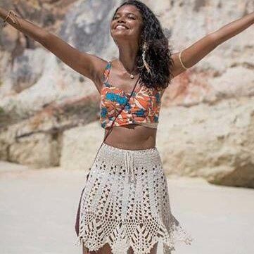 Юбка крючком для пляжа. Схема летней юбки крючком   Я Хозяйка