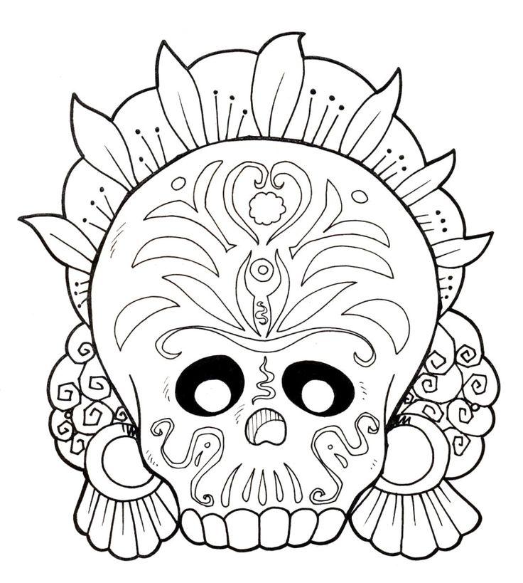 dia de los muertos coloring sheets dia de los muertos