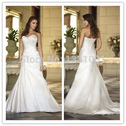 Современный хиджаб стиль Vestidos Noivas 2014 белый длинный спинки свадебные платья сексуальная милая нива бисером свадебные платья Hts один