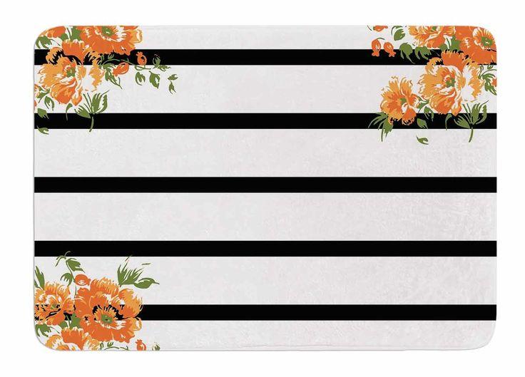 Best Bathroom Decor Images On Pinterest Bathroom Ideas Black - Striped bath mat for bathroom decorating ideas