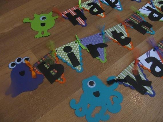Monster birthday bundle by ParkersMommy17 on Etsy, $77.00