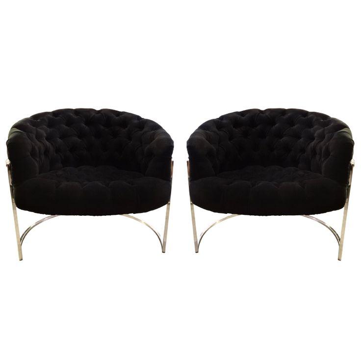 Pair Of Milo Baughman Tub Chairs