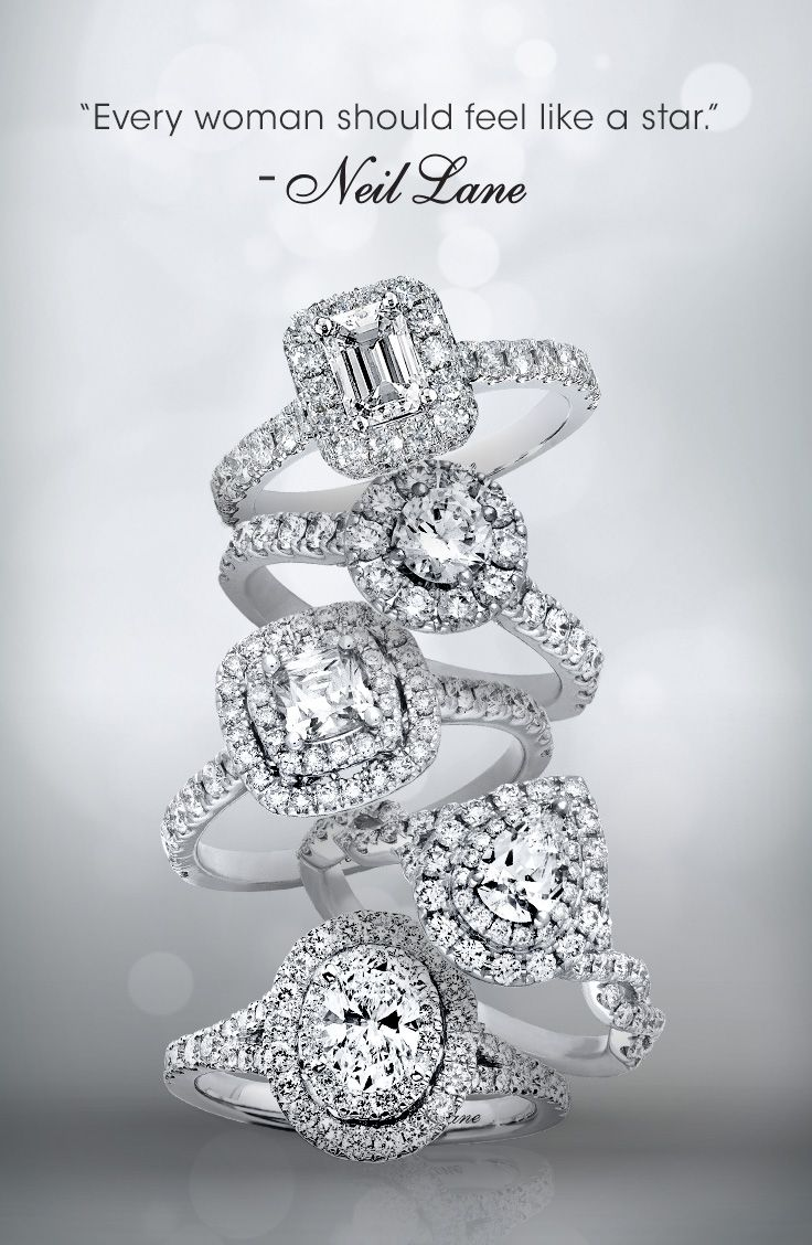 Shine like a star with the beautiful engagement ring designs of Neil Lane Bridal.