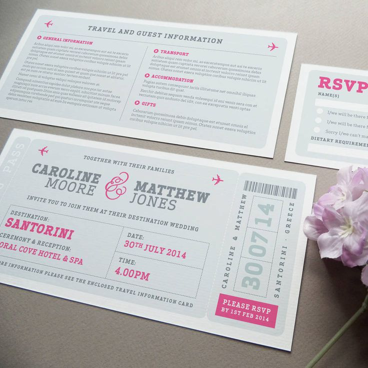 funny wedding invitation rsvp goes viral%0A Airline Boarding Pass Wedding Invitation