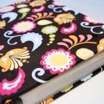 Mod Podge DIY cookbook revamp – with fabric.