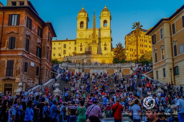 Scalinata di Trinità dei Monti, Italy #rzym #rome #roma #wlochy #italy #italia #schodyhiszpanskie #schody #stairs #trip #travel #picstrip