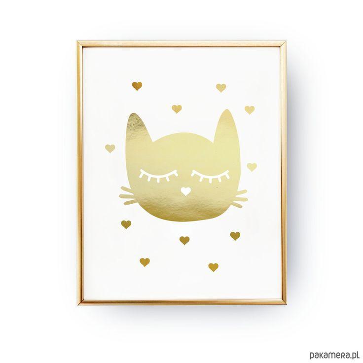 dodatki - plakaty, ilustracje, obrazy - grafika-Kitty, Złoty Druk