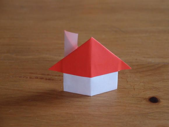 How To Make A Paper 3d House Origami 3d House Tutorial Instruction 折り紙 かわいい 折り紙の箱 紙製の飾り