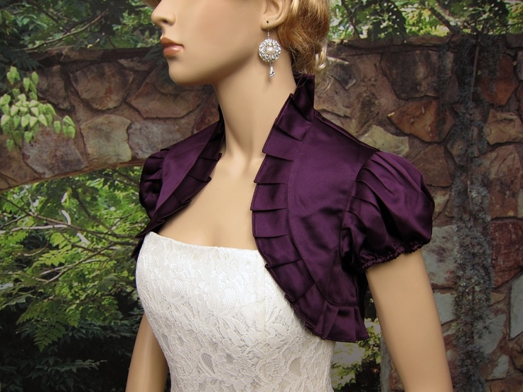 Plum Satin Bolero PURPLE!