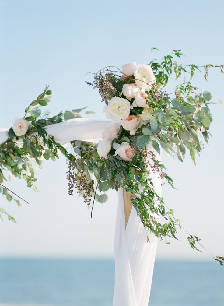 Photography : Jody Savage Photography | Floral Design : Floral Artistry Of Sanibel Read More on SMP: http://www.stylemepretty.com/florida-weddings/fort-myers/2016/02/15/sweet-organic-florida-beach-wedding/