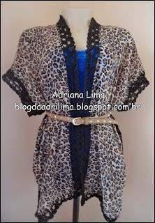 Adriana Lima: Faça você mesma: 2 echarpes + 1 barradinho de croc...