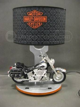 Harley Davidson Model Motorcycle Collector's Lamp