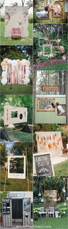 Wedding photobooth ideas / http://www.deerpearlflowers.com/brilliant-wedding-photo-booth-ideas/