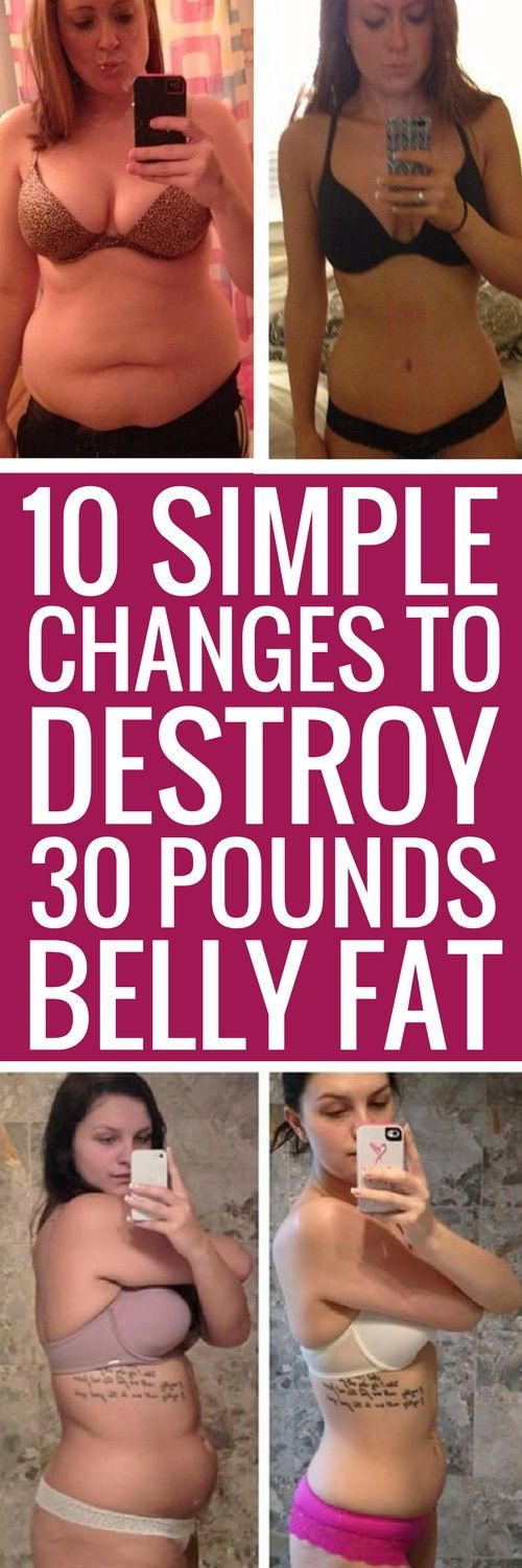 10 simple changes that will get rid of belly fat for good.