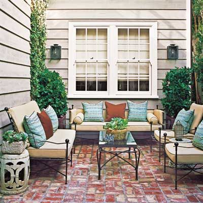 The perfect cover-up for a concrete slab, mortared brick is ideal when you want an easy-to-clean surface—you can actually vacuum it—and in warmer climates where you don't have to worry about a freeze-thaw cycle.   Photo: Joe Schmelzer   thisoldhouse.com