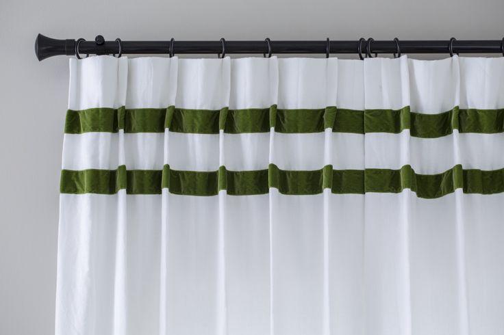 pleated drapes