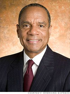 Ken Chenault, CEO of American Express.  The 3rd African American to head a fortune 500 company.