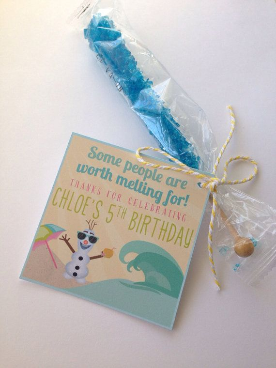12 Olaf in Summer FROZEN {inspired} Favors - FROZEN Party - Fully Assembled