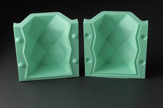 Tall Hexagonal Vase Mold Reusable Mold Sizes S-L by BoldPrints