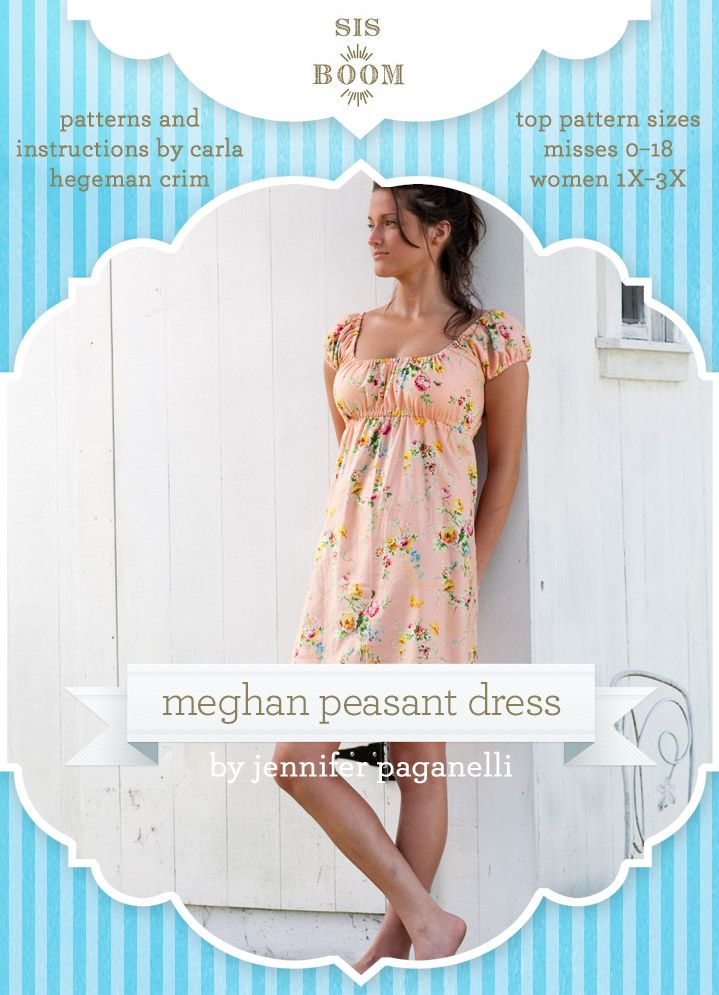 Meghan Peasant PDF Pattern for Women | Dress Patterns | Crafting | DIY Sewing Project