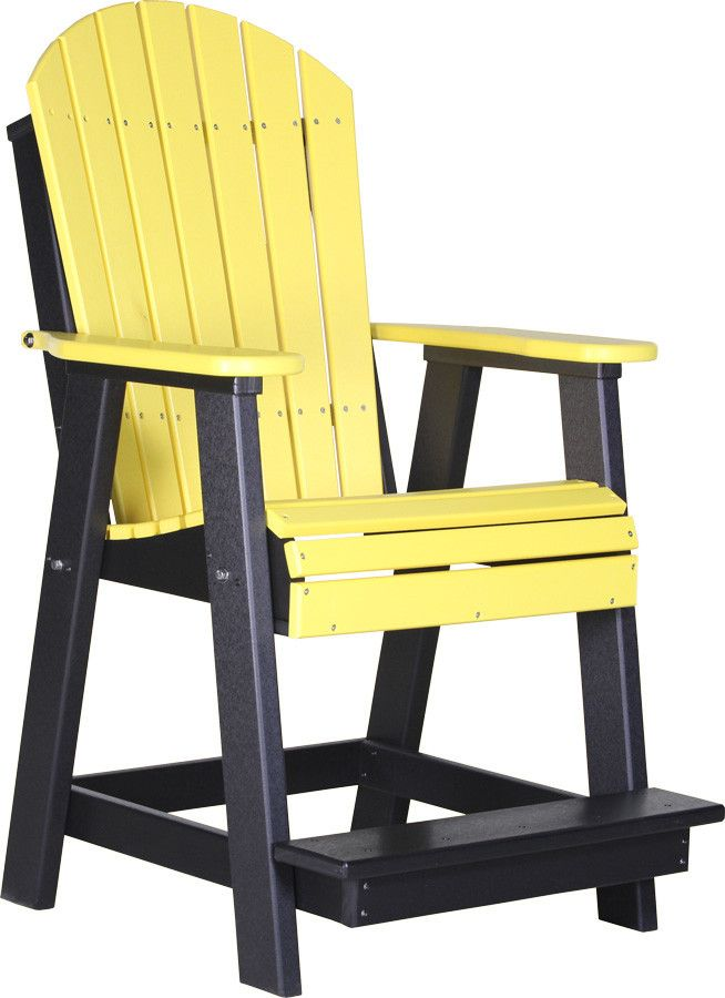 Luxcraft recycled plastic adirondack balcony chair for High quality adirondack chairs