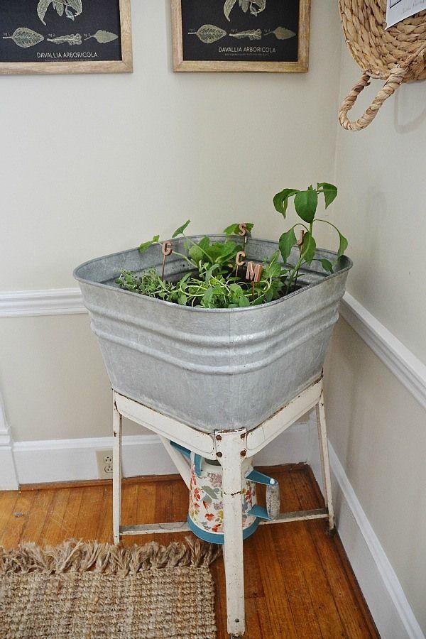 DIY Wash Tub Garden -