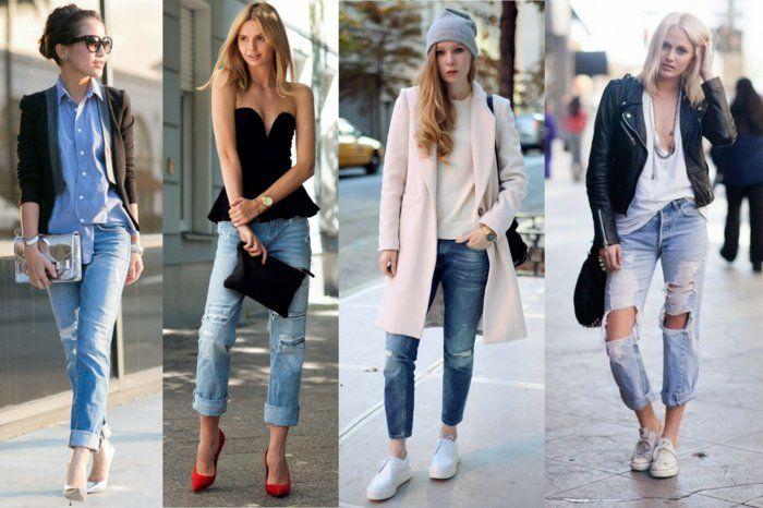 boyfriend jeans damen zerrissenie jeans