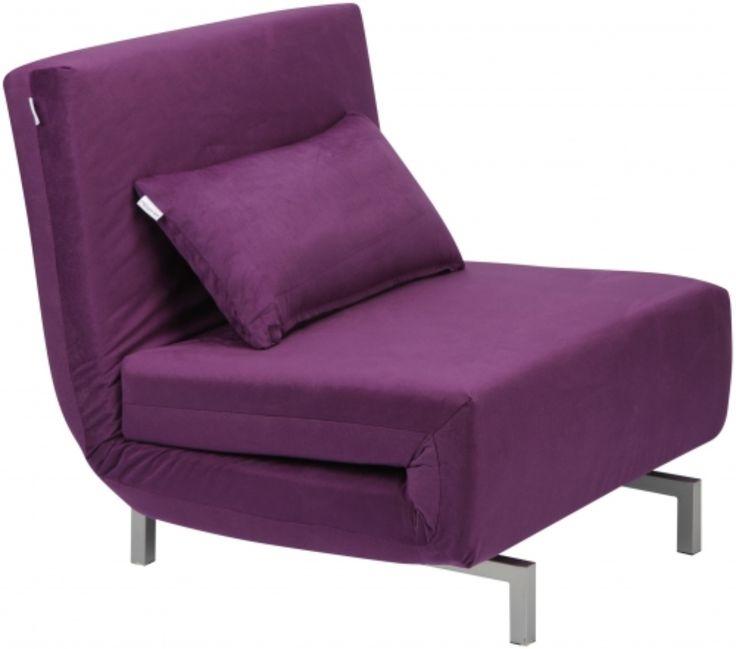 Кресло-кровать ANZOLI Avola, фиолетовое