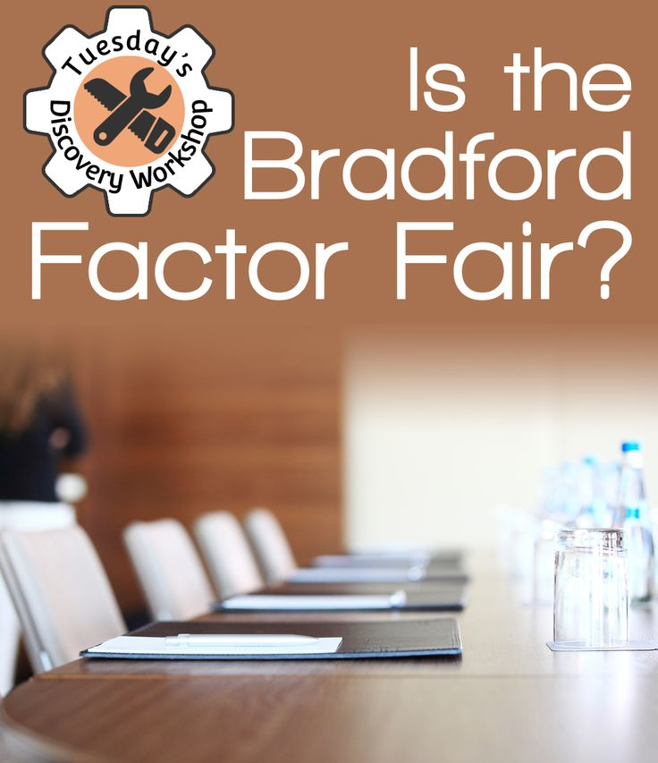 Is the Bradford Factor Fair? Tuesday's Discovery Workshop | People HR | #HR #advice