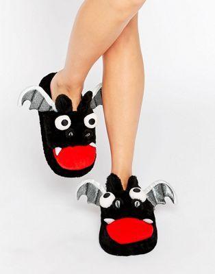 ASOS - NIGHTMARE - Pantofole a pipistrello per Halloween