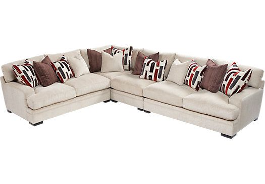 Shop+for+a+Cindy+Crawford+Home +Brighton+Park+4+Pc+Sectional +at+Rooms+To+Go.+Find+Sectionals+that+will+look+great+in+your+home+and+complement+the+ru2026  sc 1 st  Pinterest : brighton park sectional - Sectionals, Sofas & Couches