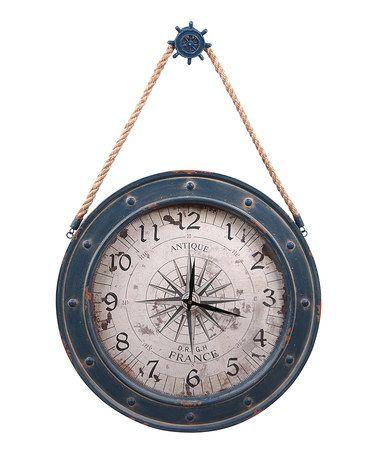 Another great find on #zulily! Blue Helm Compass Wall Clock #zulilyfinds