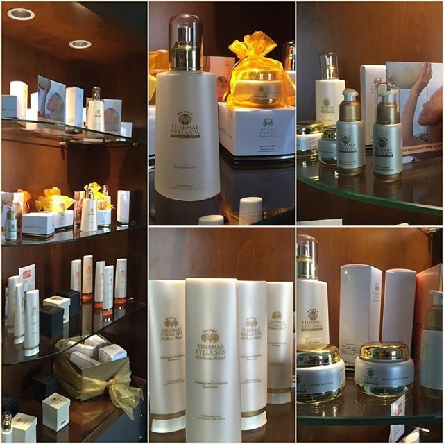 Our #thermal #cosmetic products! #ThermaeSylla #spa