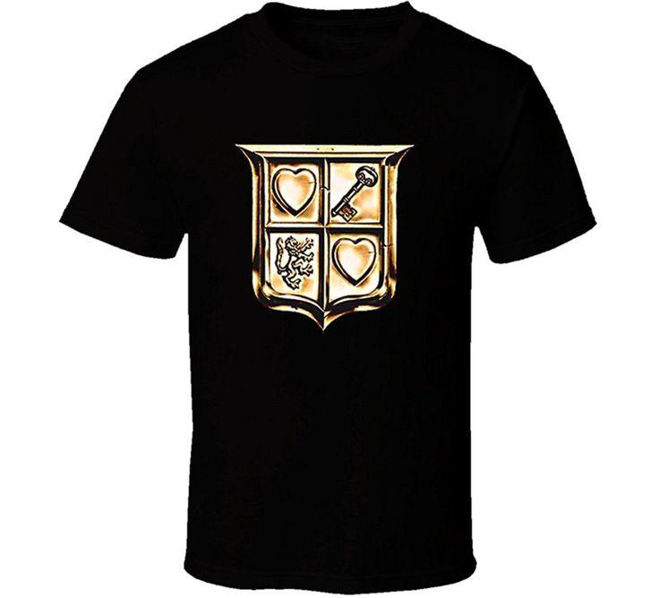GILDAN T-shirt Male Hipster Tops The Legend Of Zelda Link Shield T Shirt - Black #Affiliate