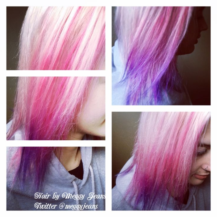 Pink, Purple, Blue Balayage Ombre  Instagram @meggyjeans_ #hairbymeggyjeans  #hair #colour #vibrant #pink #purple #blue #balayage #ombre