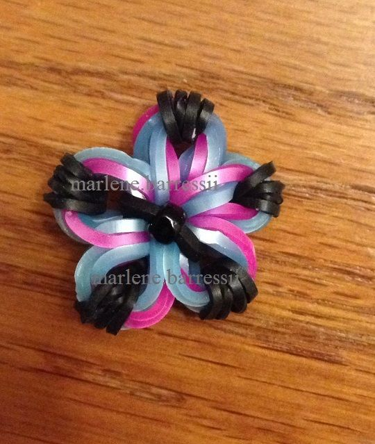 "Created this Flower Charm by using... ""Made By Mommy's Mini Cross Band Charm Tutorial"" --- (Marlene.Barressii)"