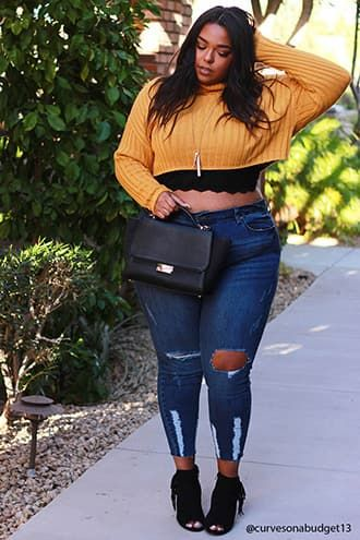 369d5ef5f26 Plus Size Cropped Tops
